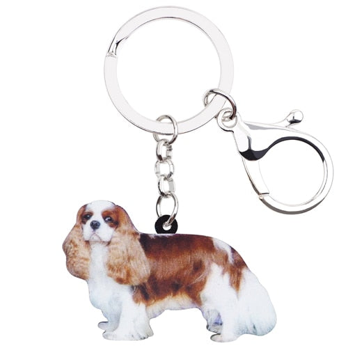 Cavalier King Charles Spaniel Acrylic Charm Keyring Dog Pup Keychain - dogsl1fe.myshopify.com - FREE SHIPPING - Default Title - Home of Top quality dog products & Accessories for dogs and dog lovers