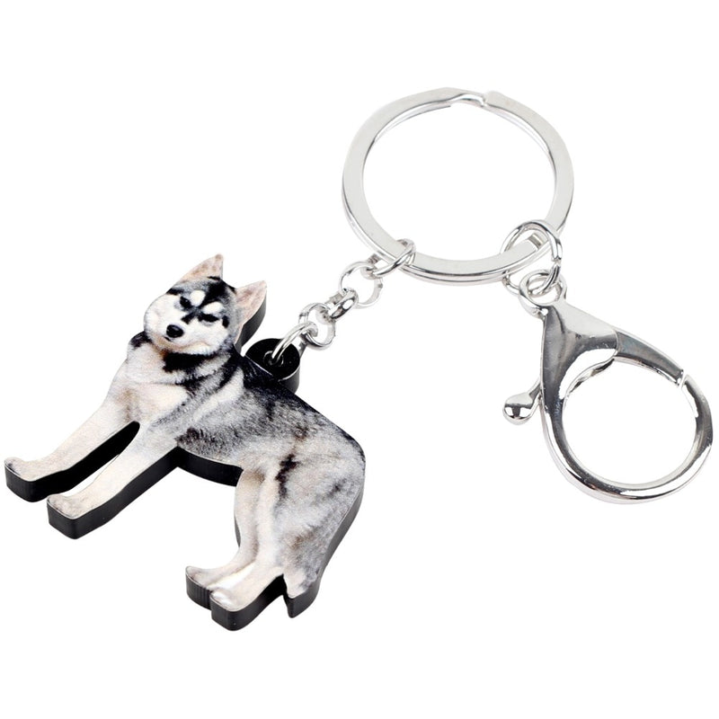 Siberian Husky Acrylic Charm Keychain Dog Pup Keyring - dogsl1fe.myshopify.com - FREE SHIPPING - [variant_title] - Home of Top quality dog products & Accessories for dogs and dog lovers