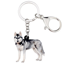 Siberian Husky Acrylic Charm Keychain Dog Pup Keyring - dogsl1fe.myshopify.com - FREE SHIPPING - Default Title - Home of Top quality dog products & Accessories for dogs and dog lovers