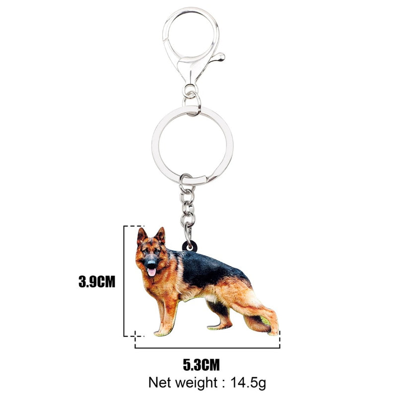 German Shepherd Acrylic Charm Keychain Dog Alsatian Keyring - dogsl1fe.myshopify.com - FREE SHIPPING - [variant_title] - Home of Top quality dog products & Accessories for dogs and dog lovers