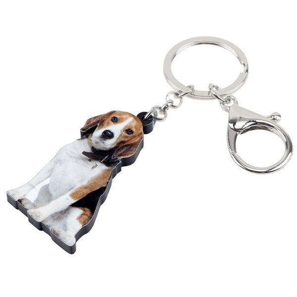 Beagle Acrylic Charm Keyring Dog Puppy Keychain - dogsl1fe.myshopify.com - FREE SHIPPING - [variant_title] - Home of Top quality dog products & Accessories for dogs and dog lovers