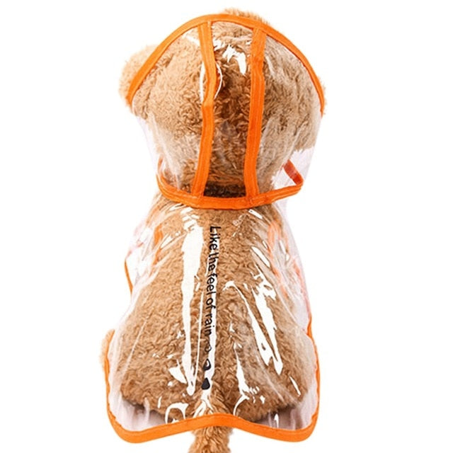 Transparent Waterproof Dog Raincoat with Hood for Small Dogs (Clear with Various Color Trim & Sizes) - dogsl1fe.myshopify.com - FREE SHIPPING - O / L / United States - Home of Top quality dog products & Accessories for dogs and dog lovers