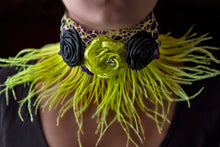 Load image into Gallery viewer, Victorian, gothic neon choker