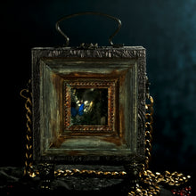 Load image into Gallery viewer, Framed Persephone's butterfly on bronze brocade