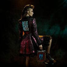 Load image into Gallery viewer, Metallic fuchsia tailored brocade jacket