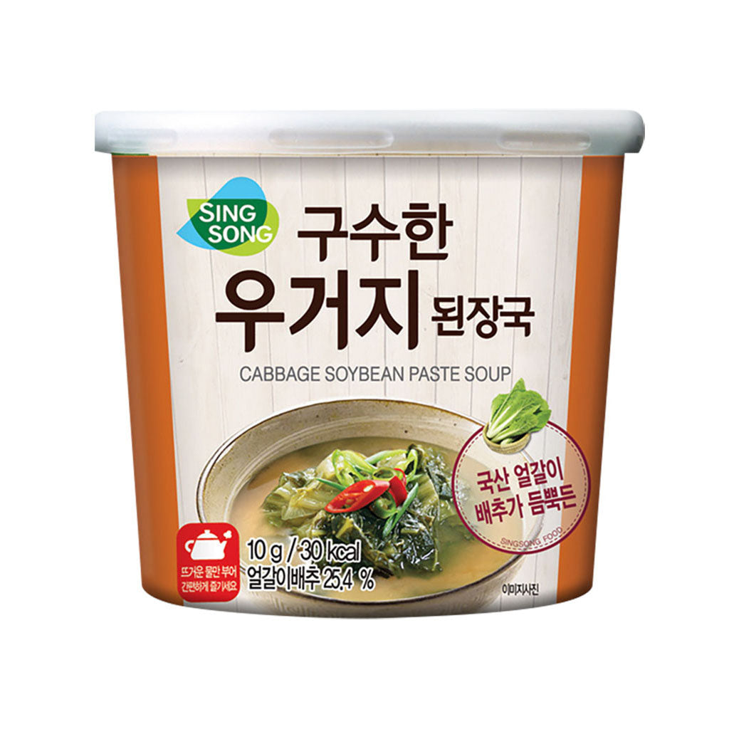KS2900<br>Singsong Cabbage Soybean Paste Soup(Cup) 24/10G