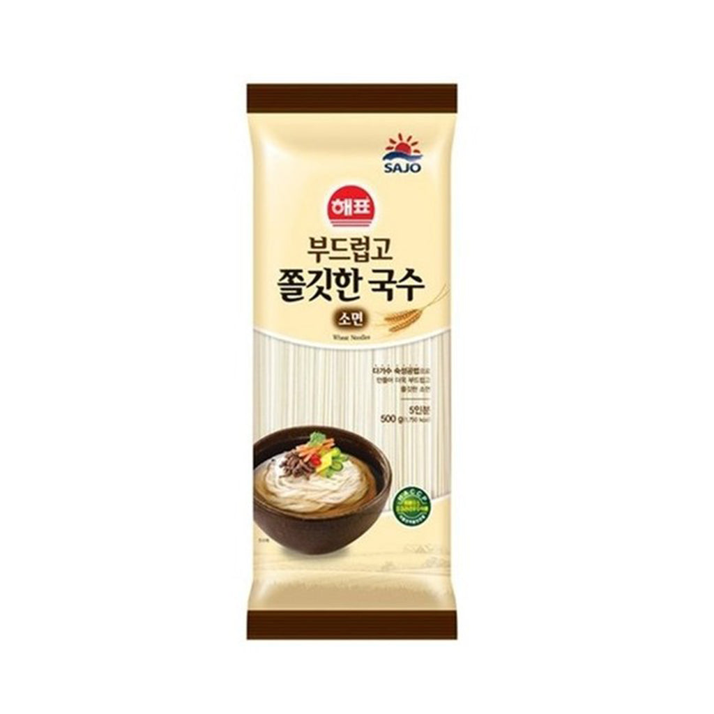 NS7001<br>Sajo Haepyo Dried Gooey Thin Noodle 24/500G