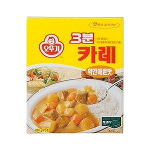 PO1210A<br>Ottogi 3Minutes Curry(Med/Hot) 24/190G