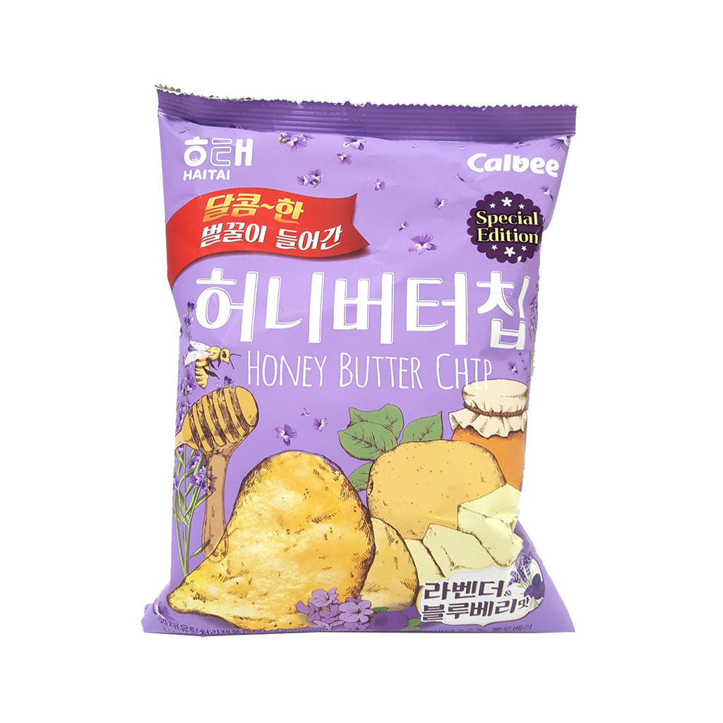 SH1112<br>Haitai Honey Butter Chips Lavneder& Blueberry 16/60G