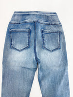 Pull-On Panel Jeans - Faded Denim