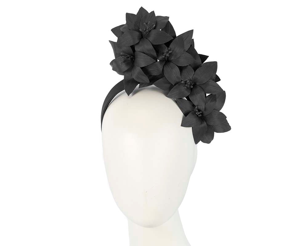 S227 Flower Headpiece- Black