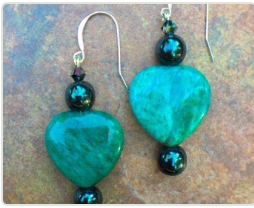 Palulett's Green Jasper Gemstone Earrings