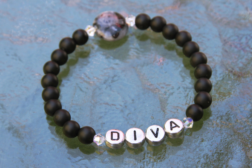 "Women's ""DIVA"" Gemstone Bracelet"