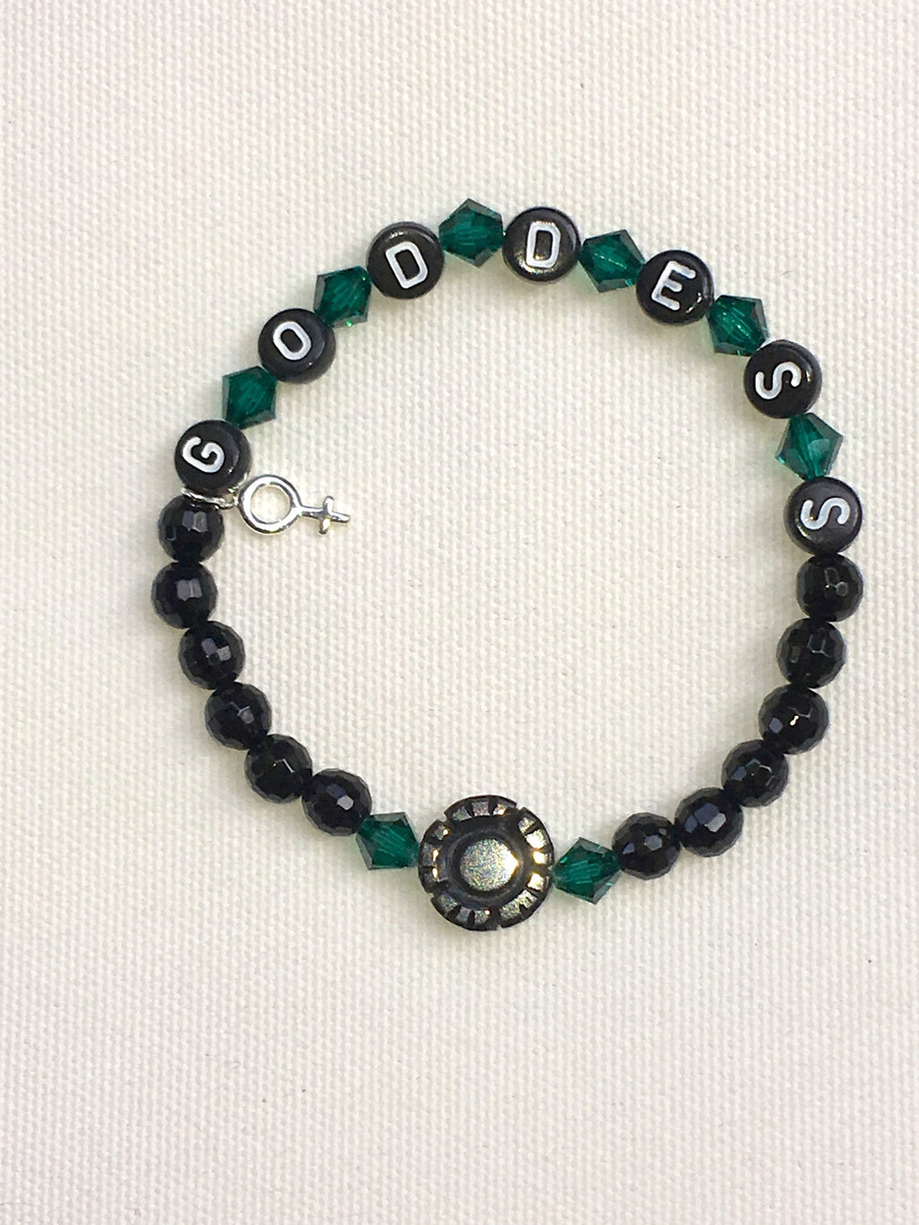 "Woman's ""Goddess"" Beaded Gemstone Bracelet"
