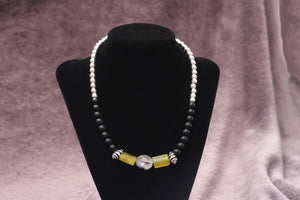 Men's Jade & Onyx Beaded Necklace