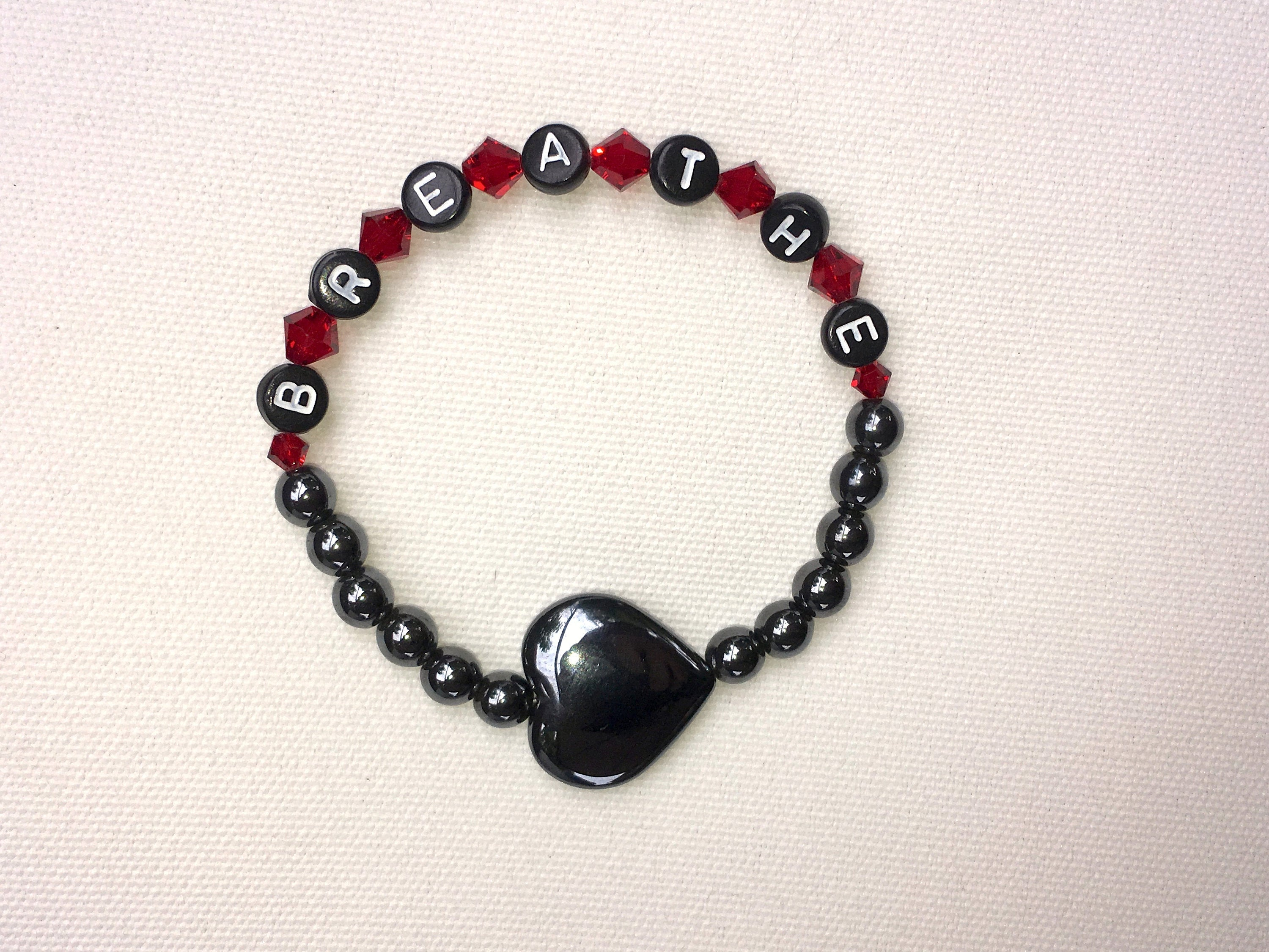 "Women's Onyx ""BREATHE"" Bracelet"