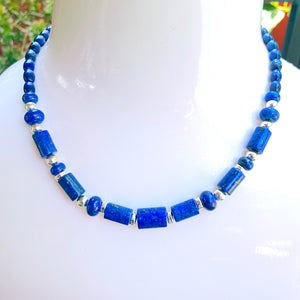 Lapis Lazuli and sterling silver Gemstone necklace