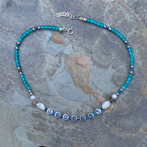 Teal Gemstone GODDESS choker