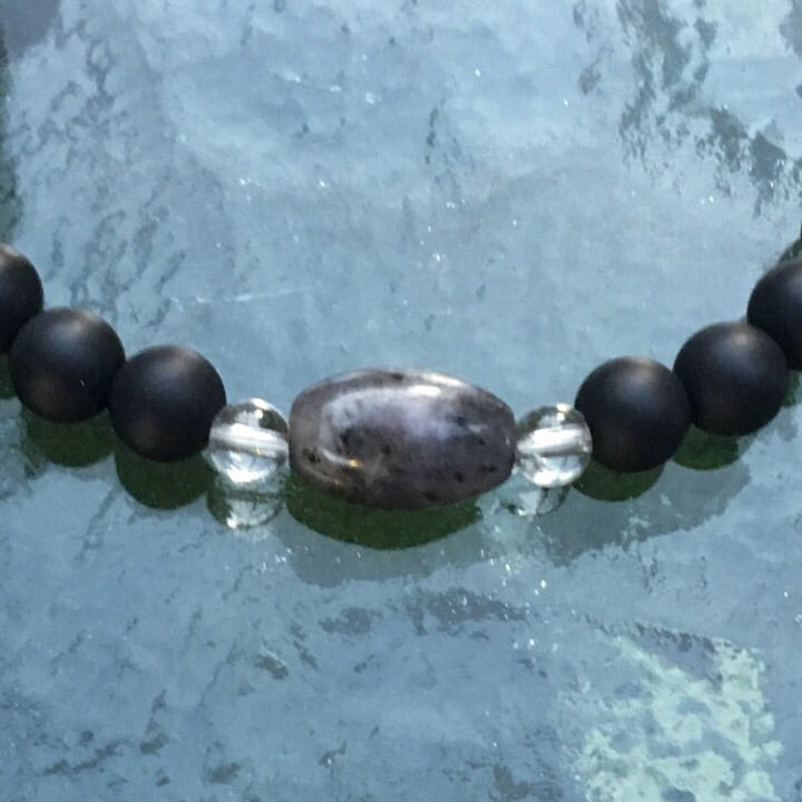Gray GODDESS Onyx Gemstone bracelet
