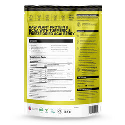 Vivo Perform Raw Plant Protein And BCAA Powder 536g