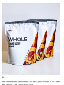 WHOLE Plant Based Nutritional Shake - 1KG / 25 SERVINGS