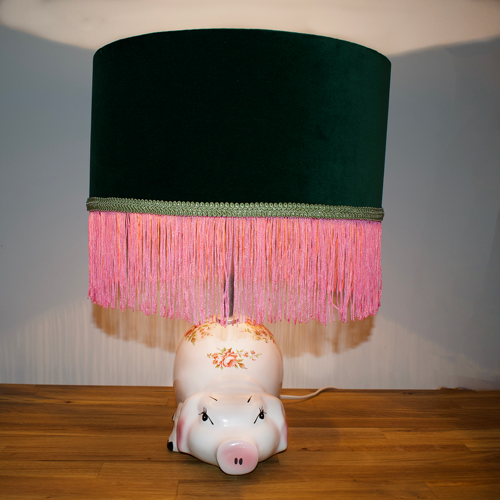 Vintage Piggy Bank Lamp