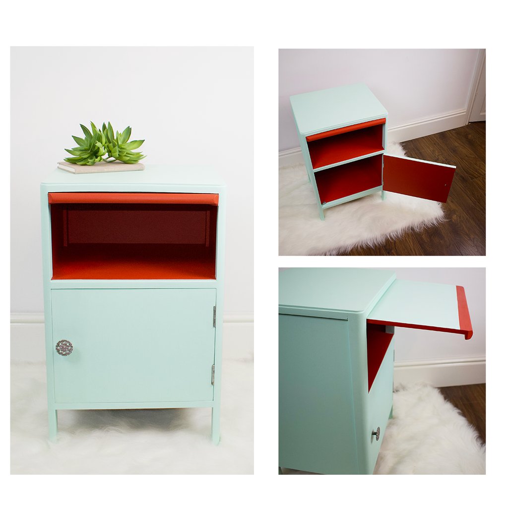 Vintage Side Table / Cupboard Utility Furniture