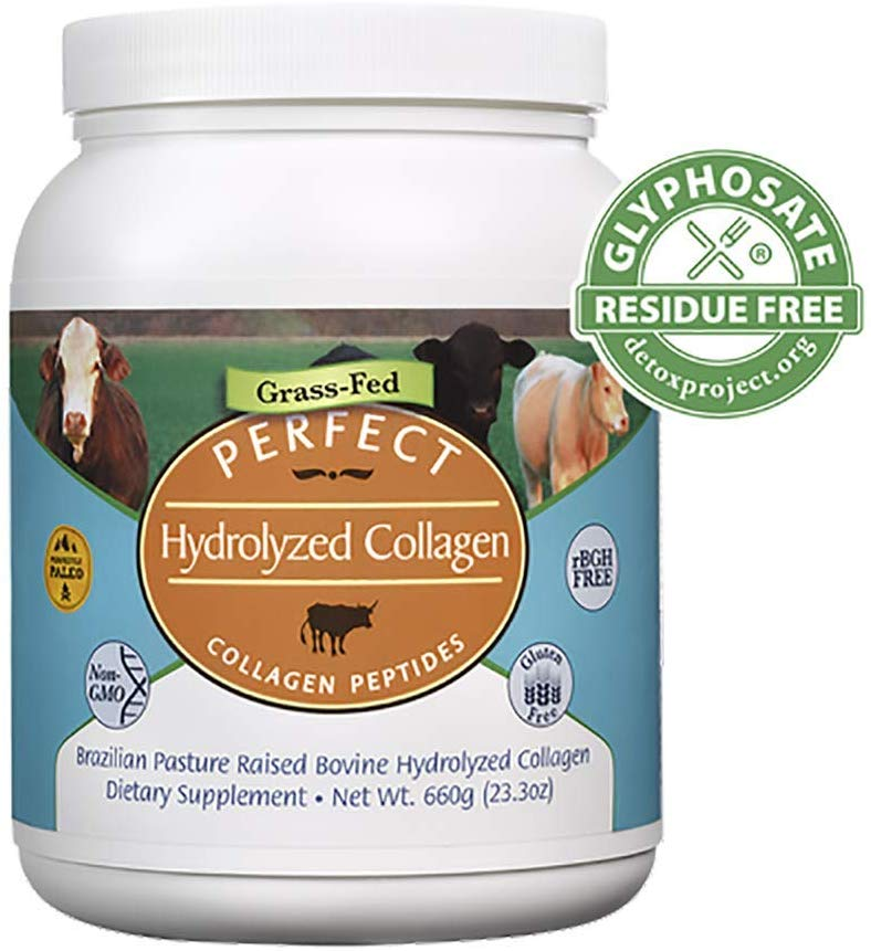 PERFECT HYDROLYZED COLLAGEN - 100% HYDROLYZED COLLAGEN SOURCED FROM BRAZILIAN PASTURE RAISED (GRASS FED) COWS