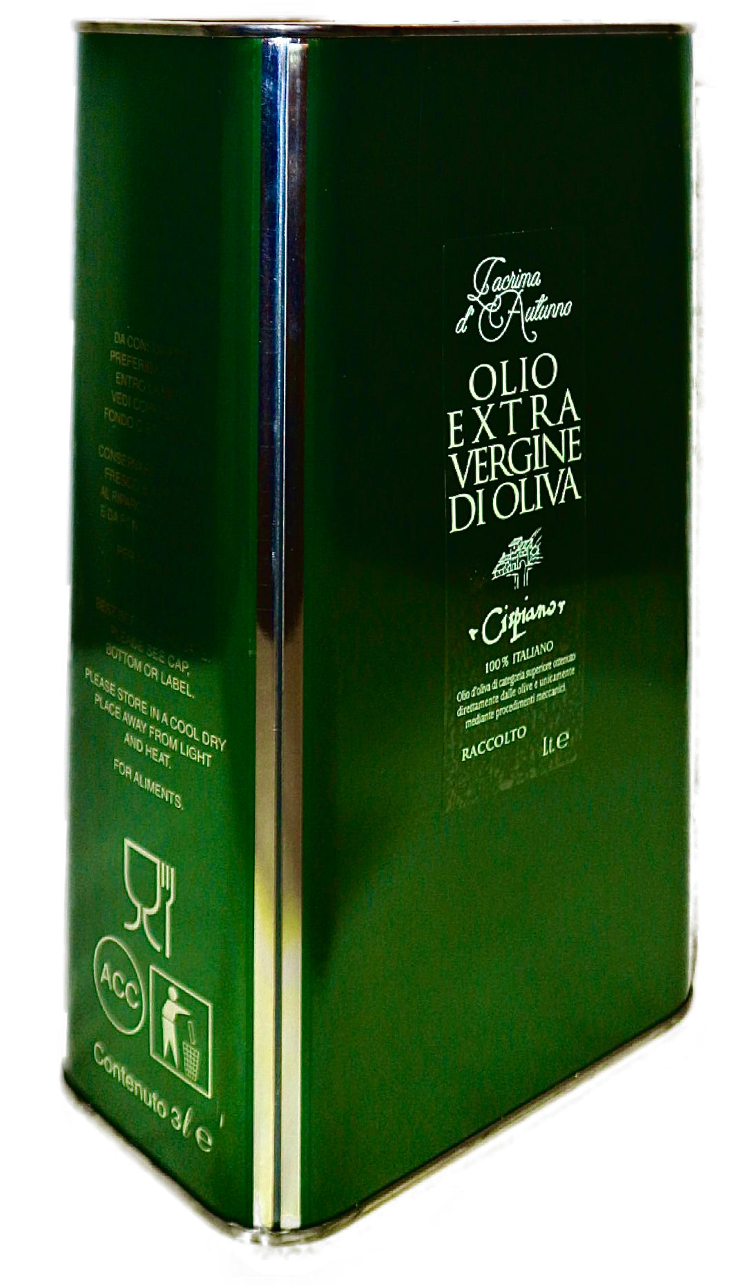 EXTRAVIRGIN OLIVE OIL in tin, various sizes