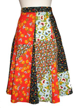 Load image into Gallery viewer, Vintage floral patchwork skirt