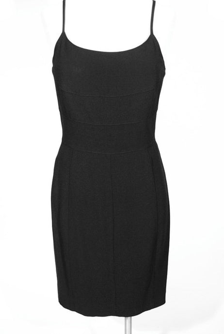 State of Claude Montana black dress, circa 1990s