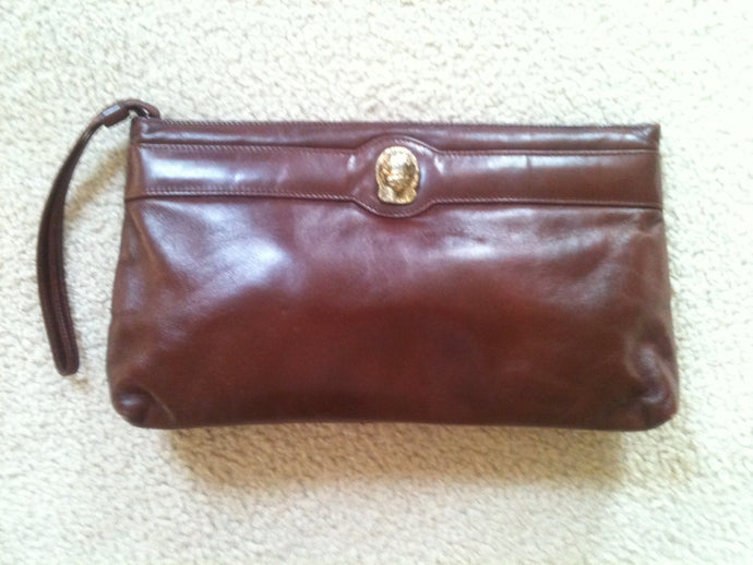 Vintage Ruth Saltz leather clutch bag
