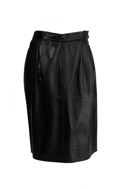 Vintage Gucci black leather skirt