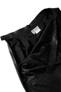 Gucci black leather skirt