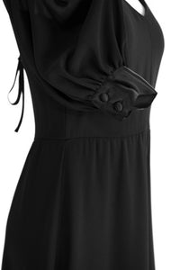 Albert Nipon black dress, circa 1970s/1980s
