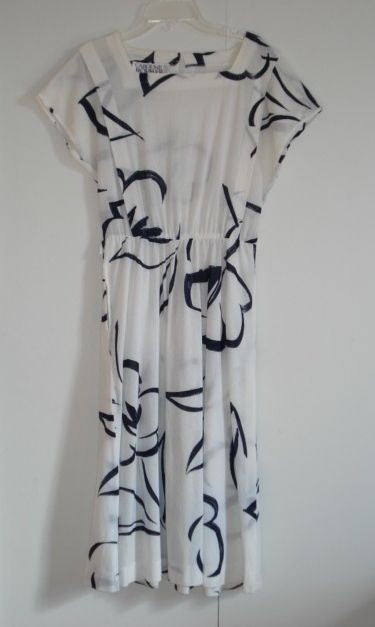 Vintage Caroline Rohmer Paris dress 80s 1980s