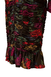 Albert Nipon silk floral print ruched dress