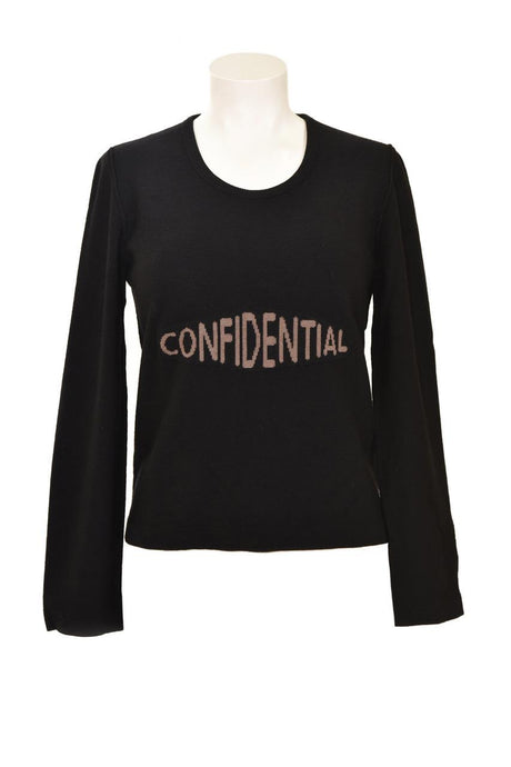 Vintage Sonia Rykiel Black Wool Confidential Sweater
