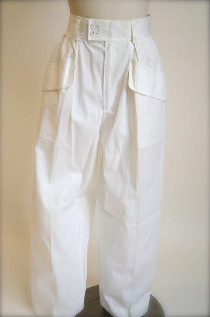 Vintage Saint Laurent Rive Gauche white pants
