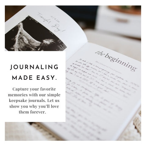 Duncan & Stone | Journaling Made Easy | Childhood Keepsakes | Capture What Matters.