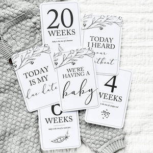 Pregnancy Milestone Cards | Baby Announcement | Expecting Mom Gift