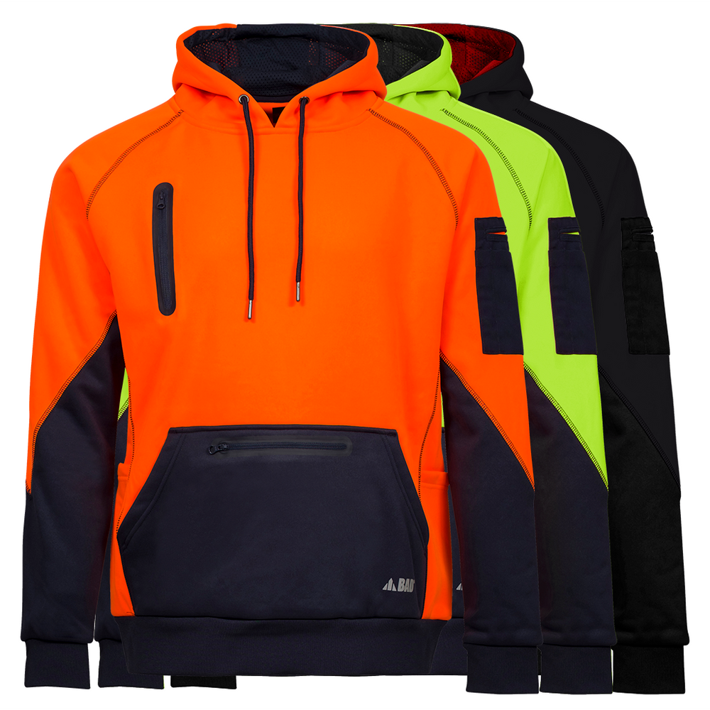 BAD® WATERPROOF HI-VIS FLEECE HOODIE