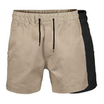 BAD SAVIOUR™ ELASTIC WAIST WORK SHORT SHORTS