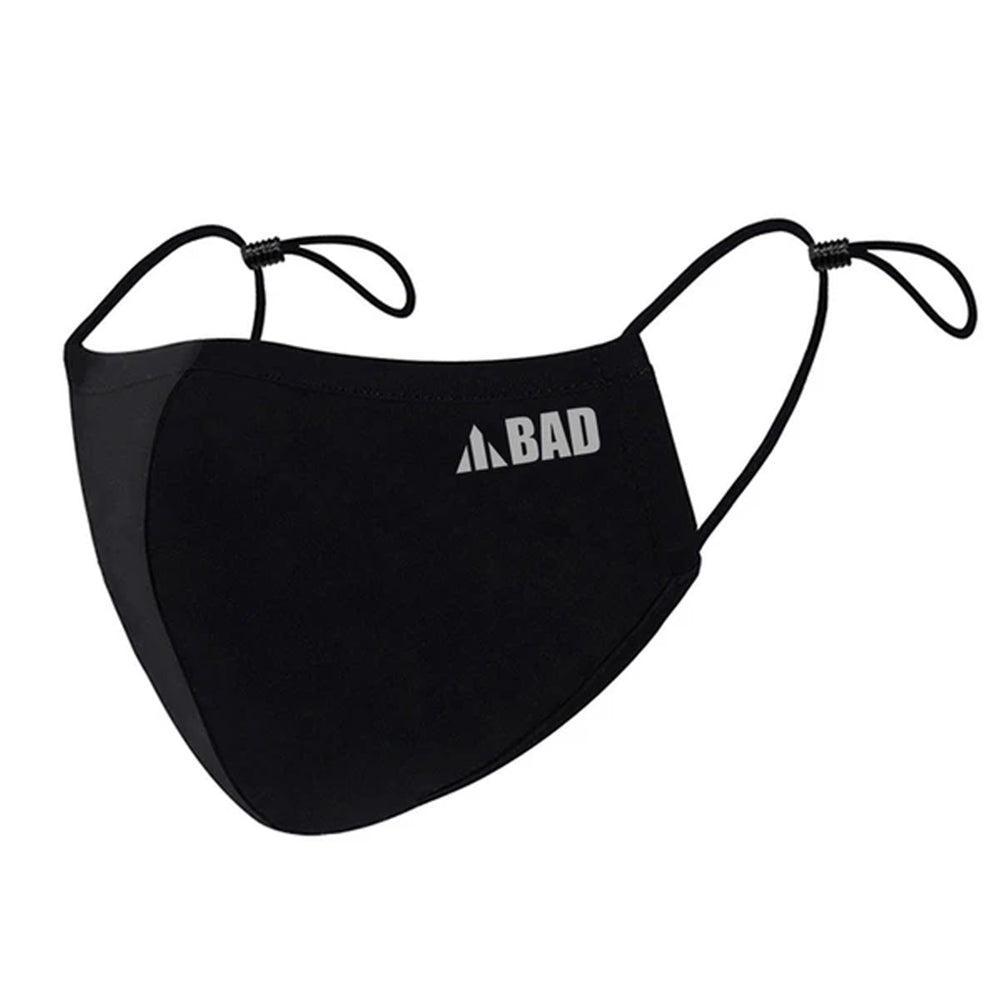 BAD BLACK 3-LAYER REUSABLE FACE MASK