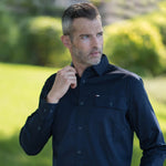 BAD® STRETCH L/S NAVY BUTTON-DOWN WORK SHIRT