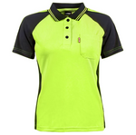 BAD® WOMEN'S YELLOW HI-VIS POLO SHIRT