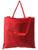Large grocery tote bag red