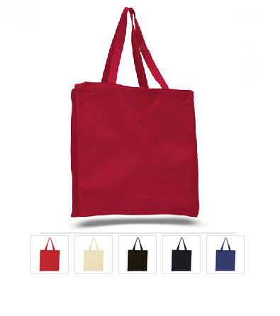 Canvas Shopper Bag W/ Full Gusset TF230