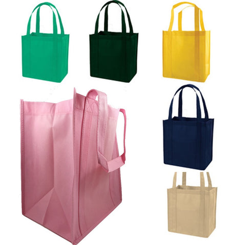 Non-Woven Gusset Tote Bag W/ Bottom Insert GN45