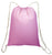 Cotton Cinch Bags Economical Gym Bag Light Pink